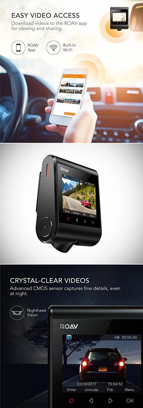 Anker Roav Dash Cam C1 A Sony Exmor Capteur et WiFi Intégré, en Obtenir Un pour $67.99 Expédié