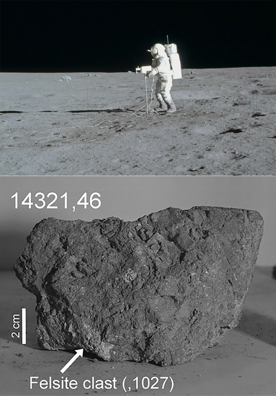 Apollo 14 Earth Moon Rock
