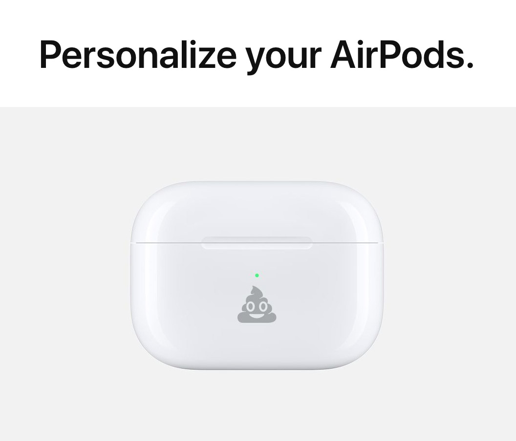 Apple Emoji Engraving AirPods