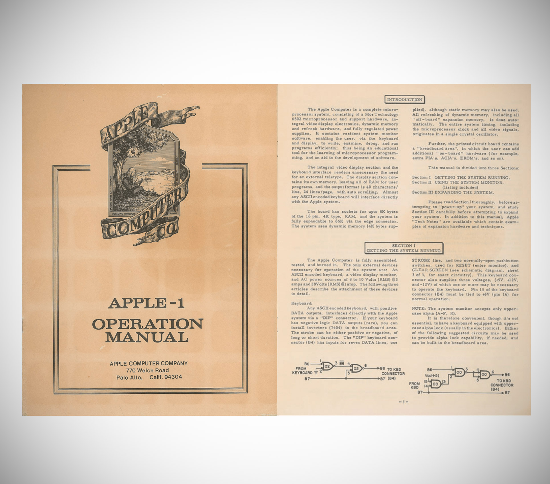 Apple-1 Manual 1976 Auction