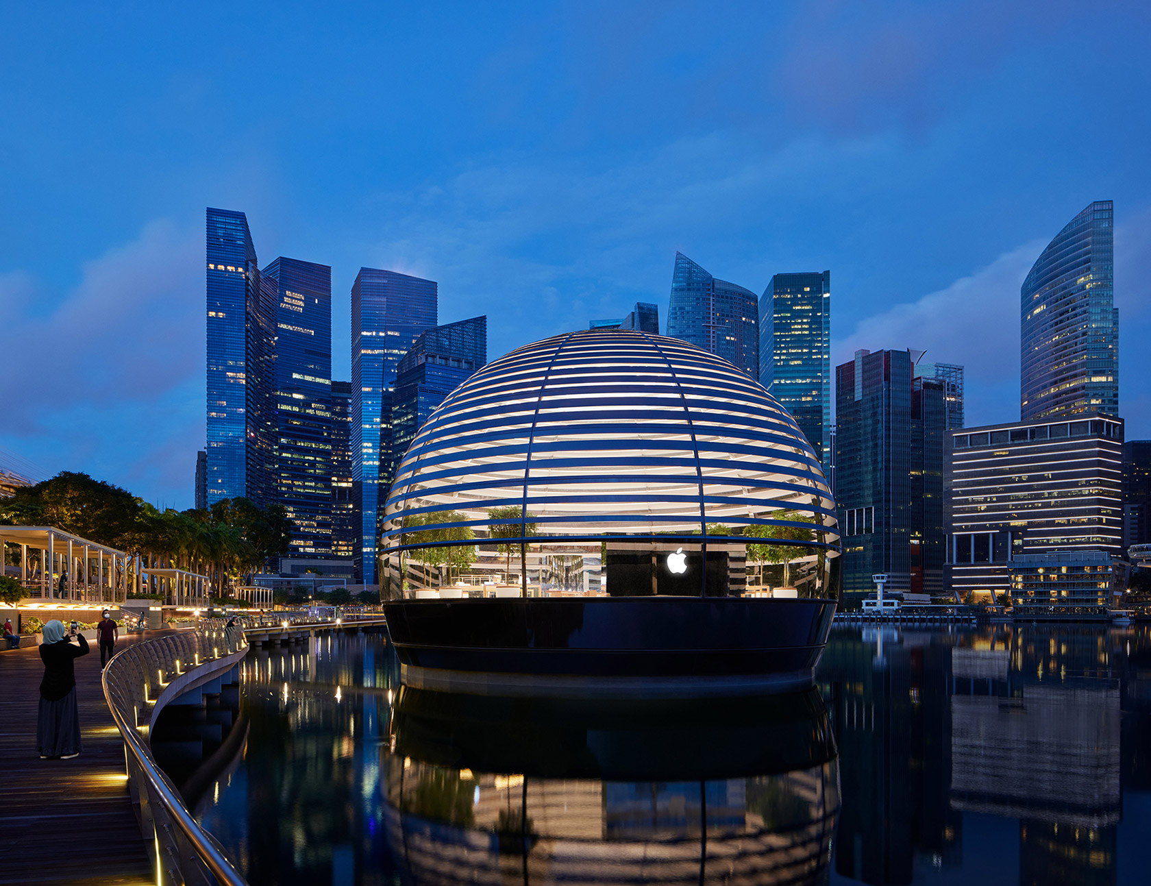 Apple Marina Bay Sands Floating Sphere Singapore