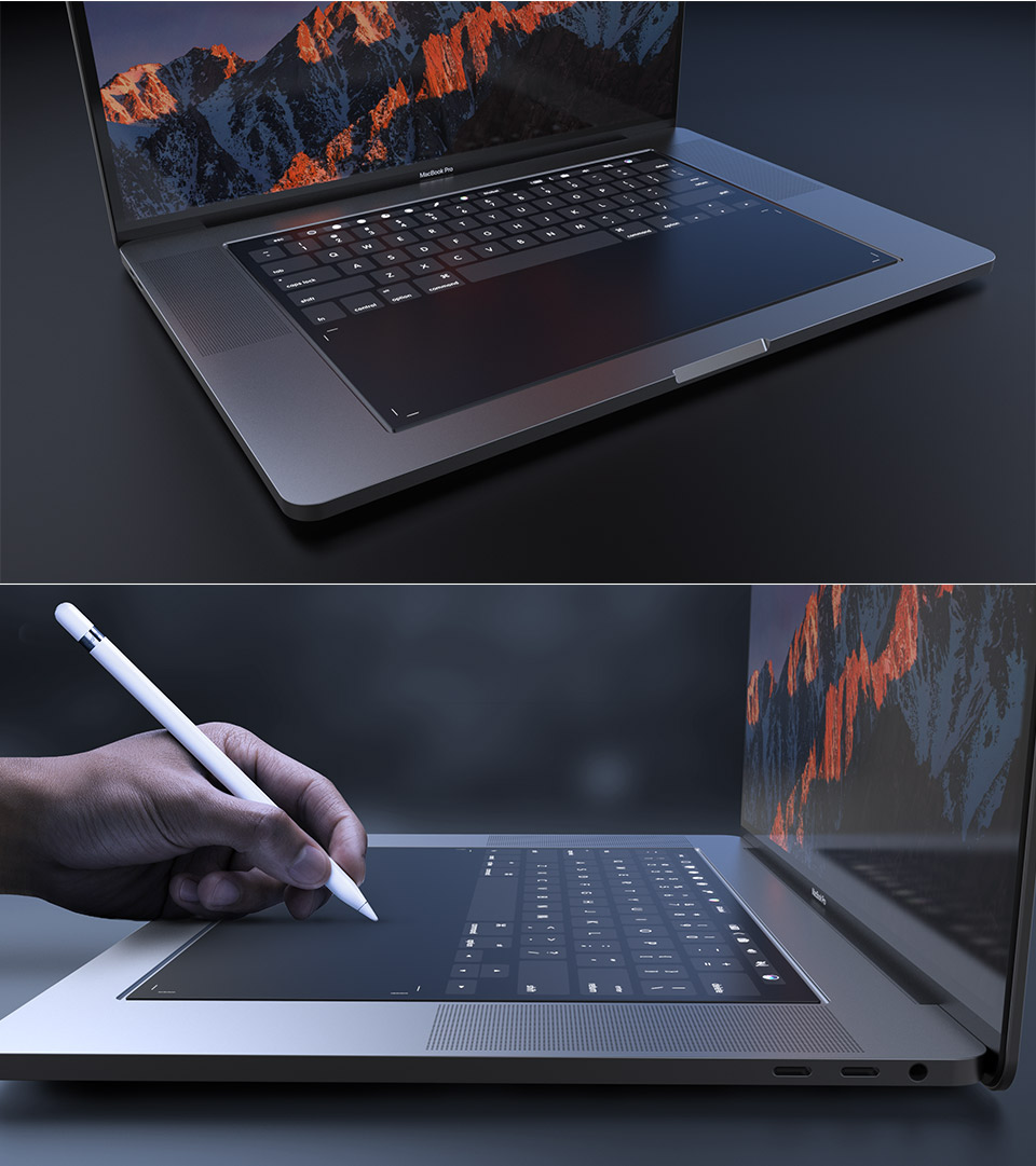 Apple Patent Glass Keyboard Macbook