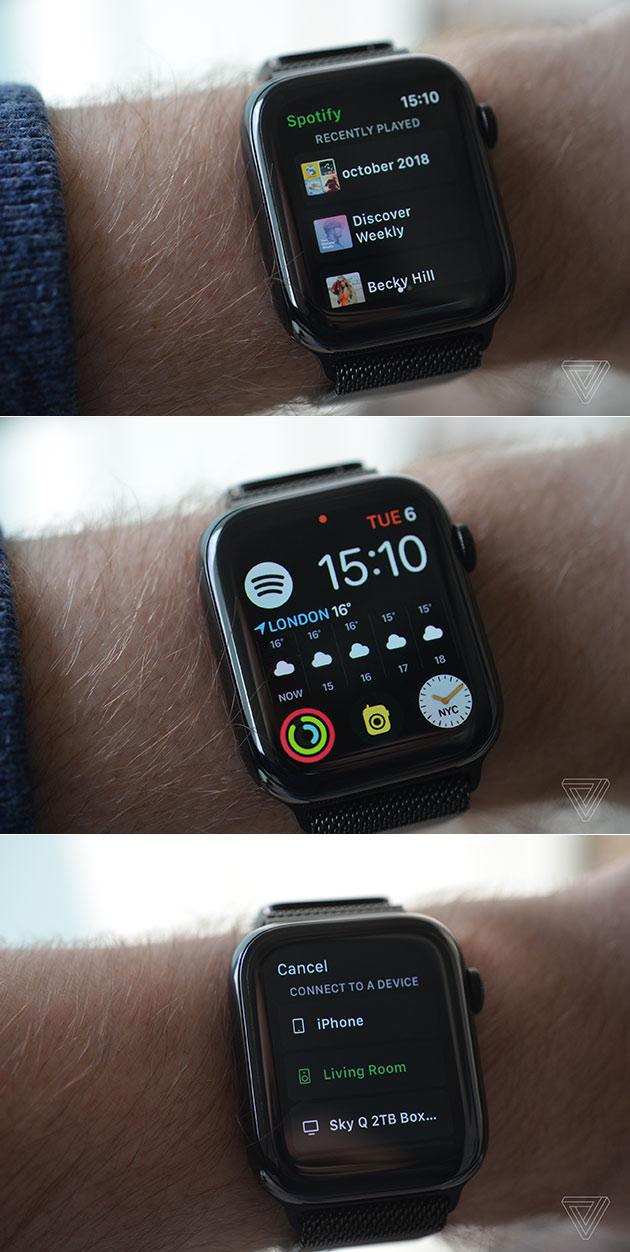 Spotify für Apple Watch Wird Getestet auf Video Beinhaltet Nur die Grundlegenden Funktionen Für Jetzt
