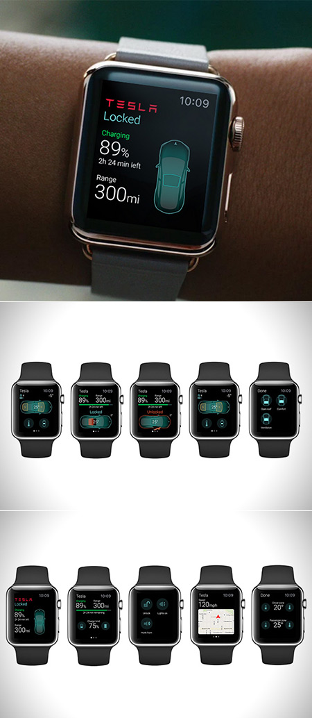 Apple Watch Tesla