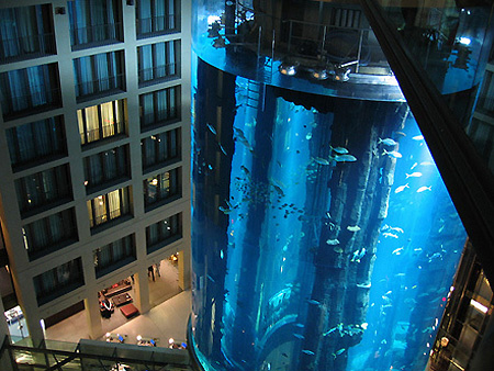 AquaDom, Located Inside Berlinu0027s Radisson SAS Hotel, Is Touted As The  Worldu0027s Largest Cylindrical Fish Aquarium. It Stands 82 Feet Tall, And  Houses 2600 ... Part 78