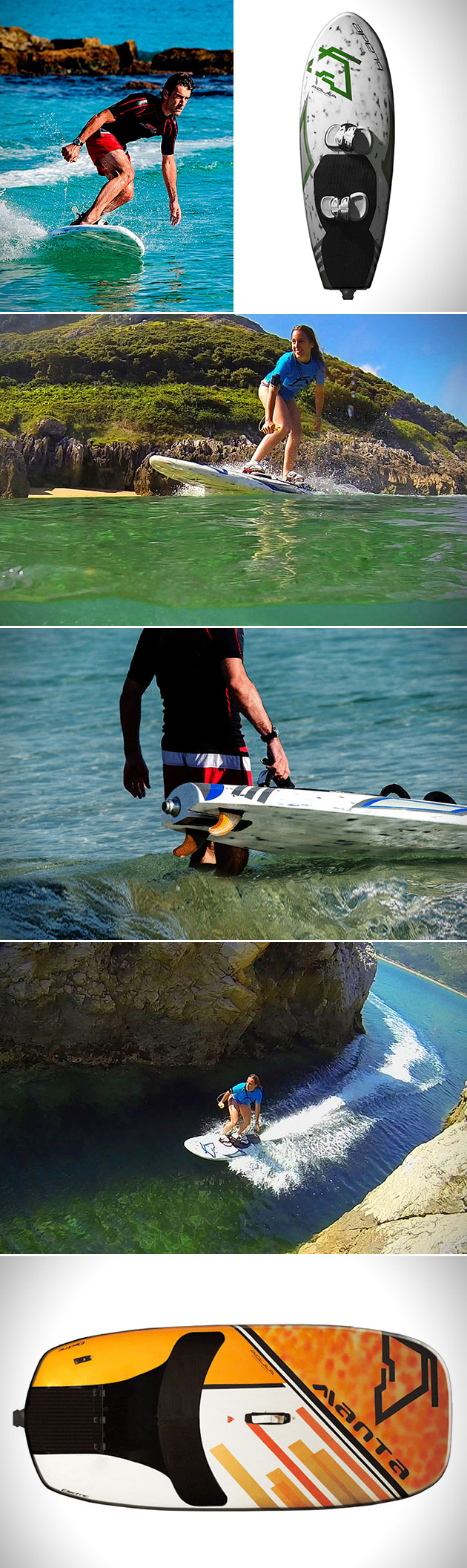 Electric Power Board : Aquila electric power board lets you shred waves at up to