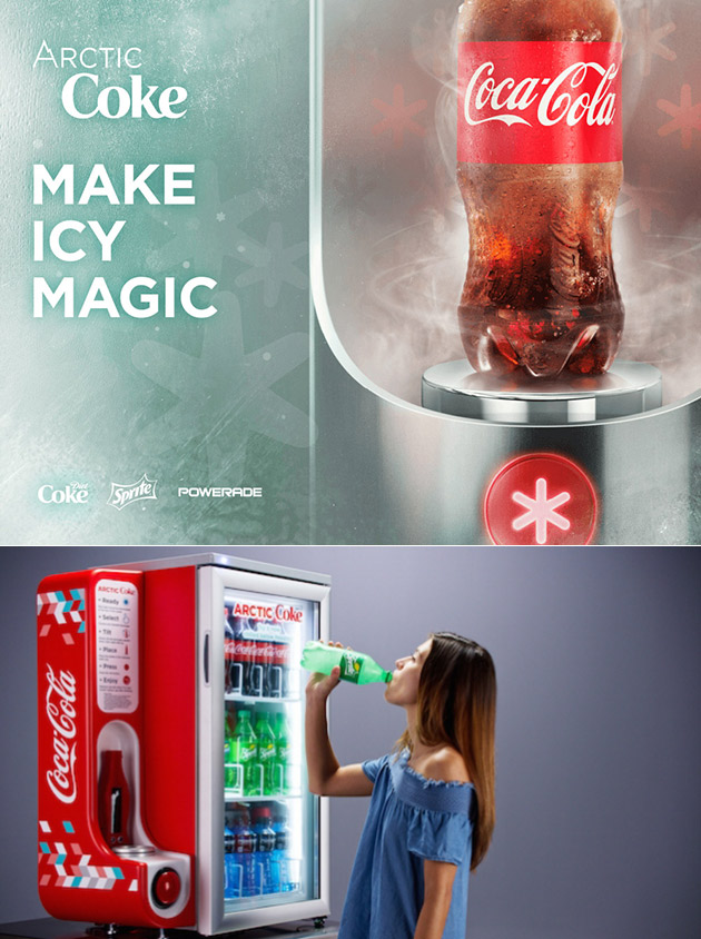 Arctic Coke Machine Chills Your Beverages to a Slush in Seconds, Here's an Up-Close Look