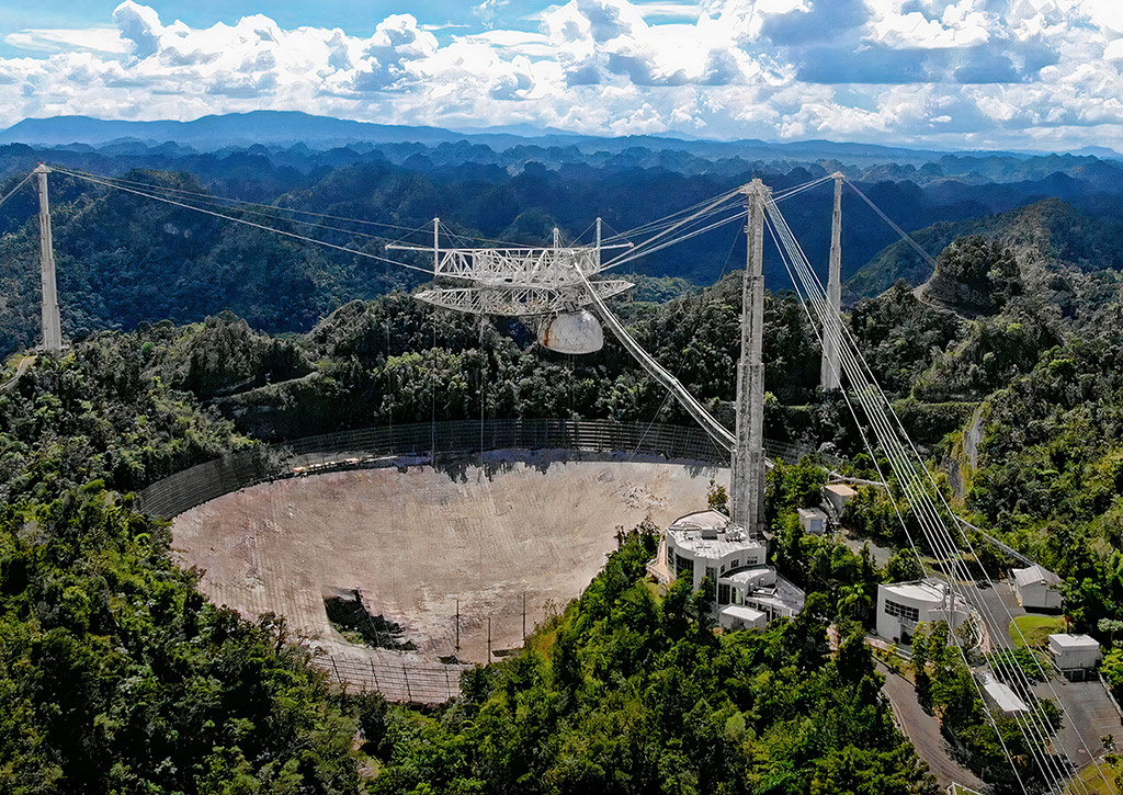 Arecibo Observatory Telescope Puerto Rico Collapse