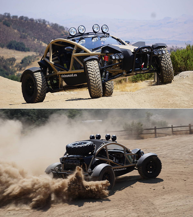 Ariel Nomad on Dune Buggy Engine Guard