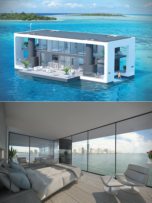 ARKUP Livable Yacht is Solar-Powered, Can Easily Be Anchored at Bay