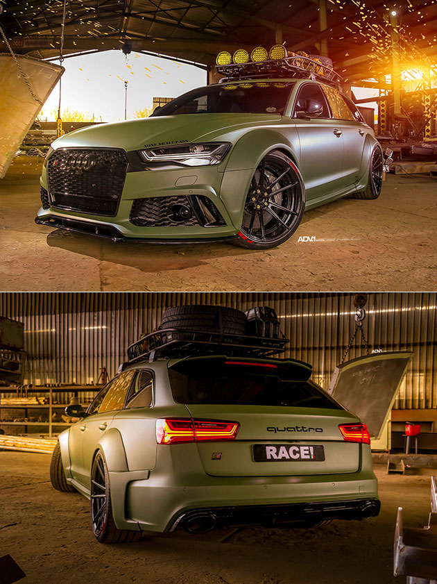 Army Green Audi RS6