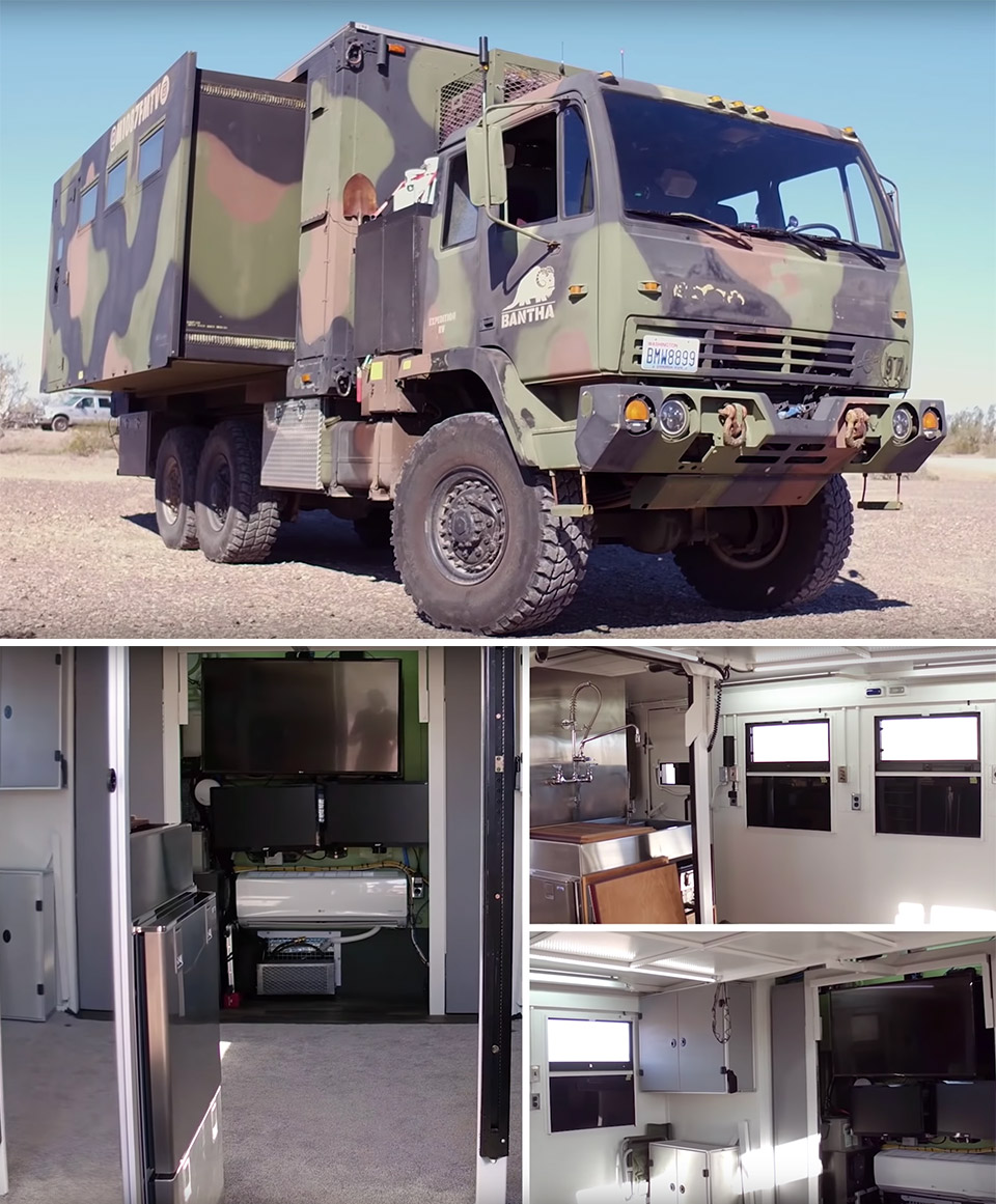 Army Truck Solar Home