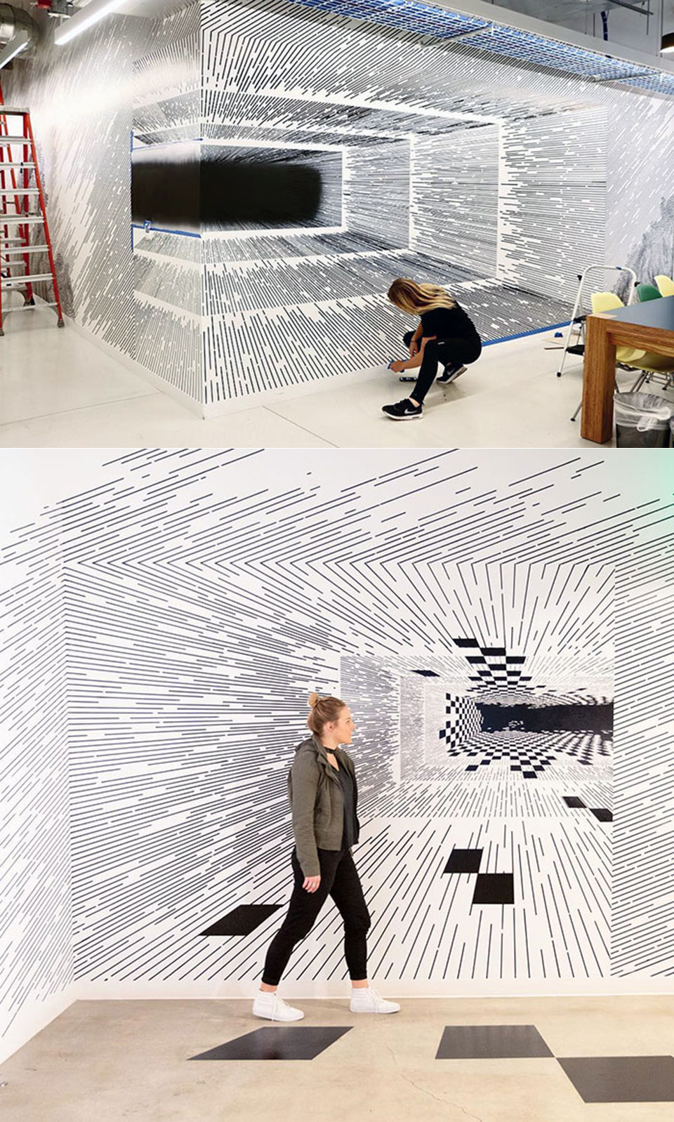 Artist Lines Optical Illusions