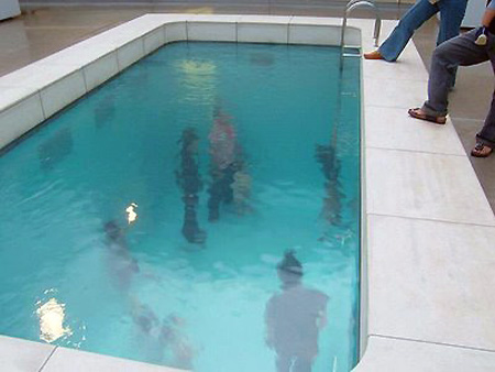 feature artist builds swimming pool uses acrylic plates