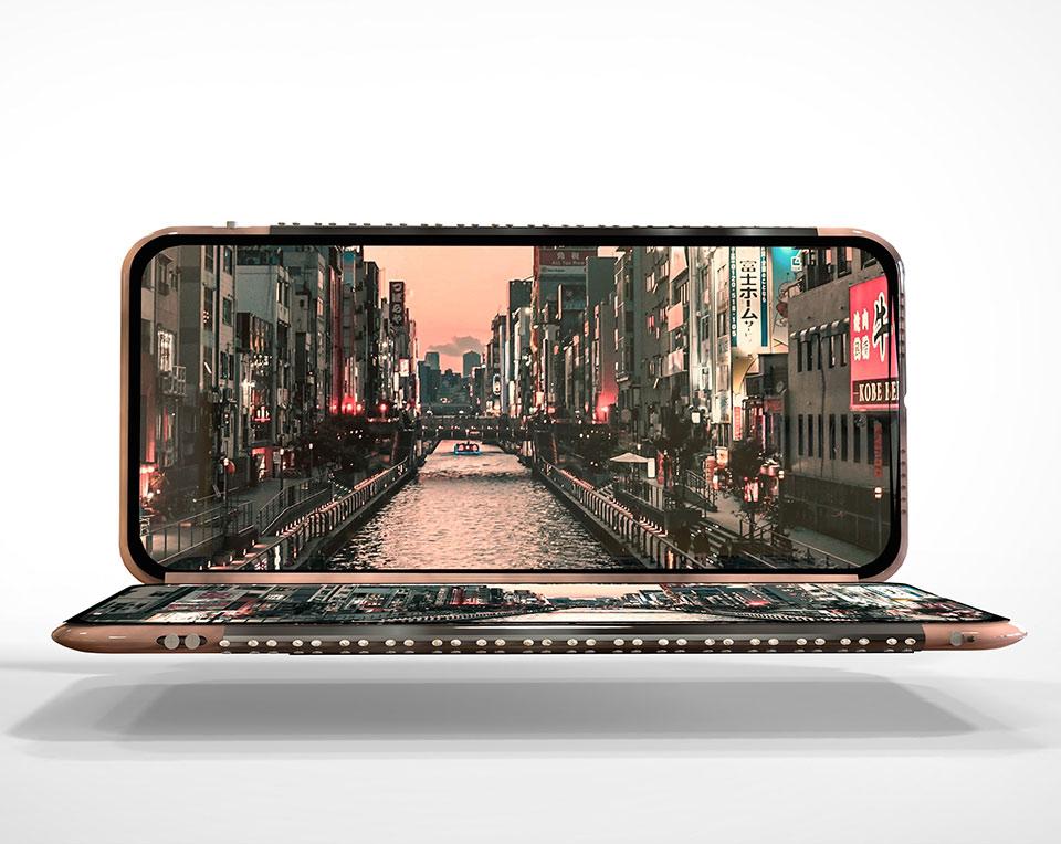 ARVOW Smartphone Three Displays