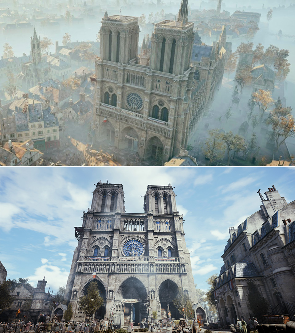 Assassin's Creed Unity Ubisoft Notre Dame