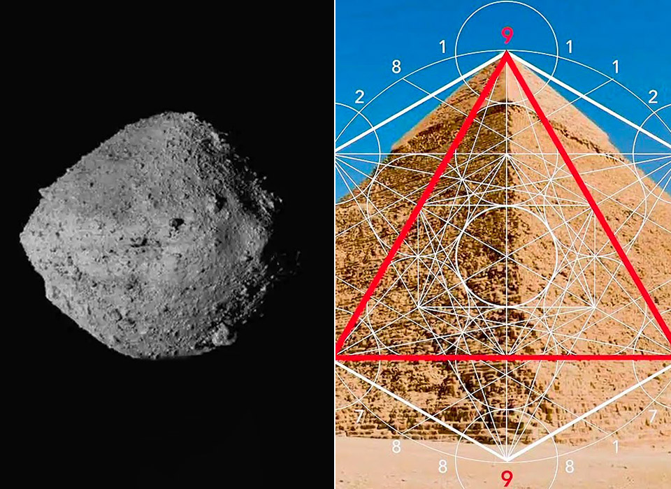 Asteroid The Great Pyramid of Giza Earth