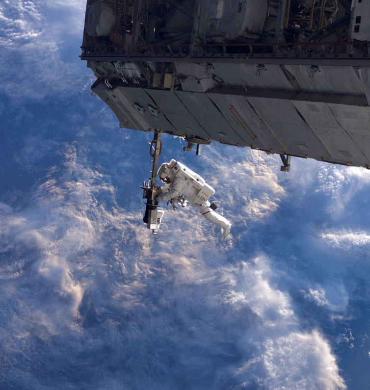 Astronaut Outside ISS