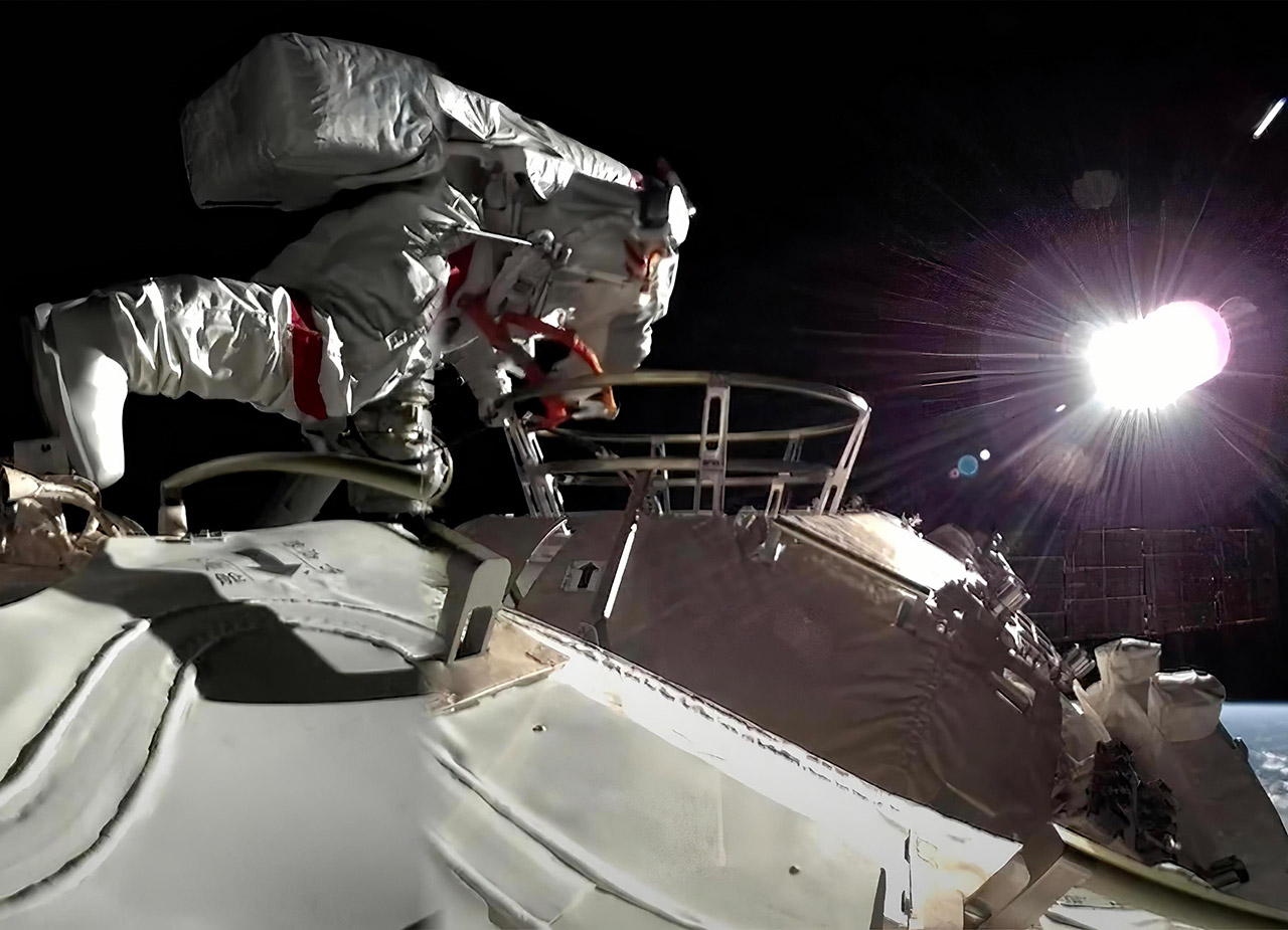 Astronaut Spacewalk China Tiangong Space Station