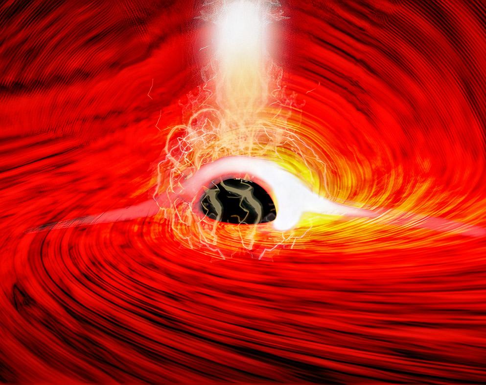 Astronomer Light Behind Black Hole