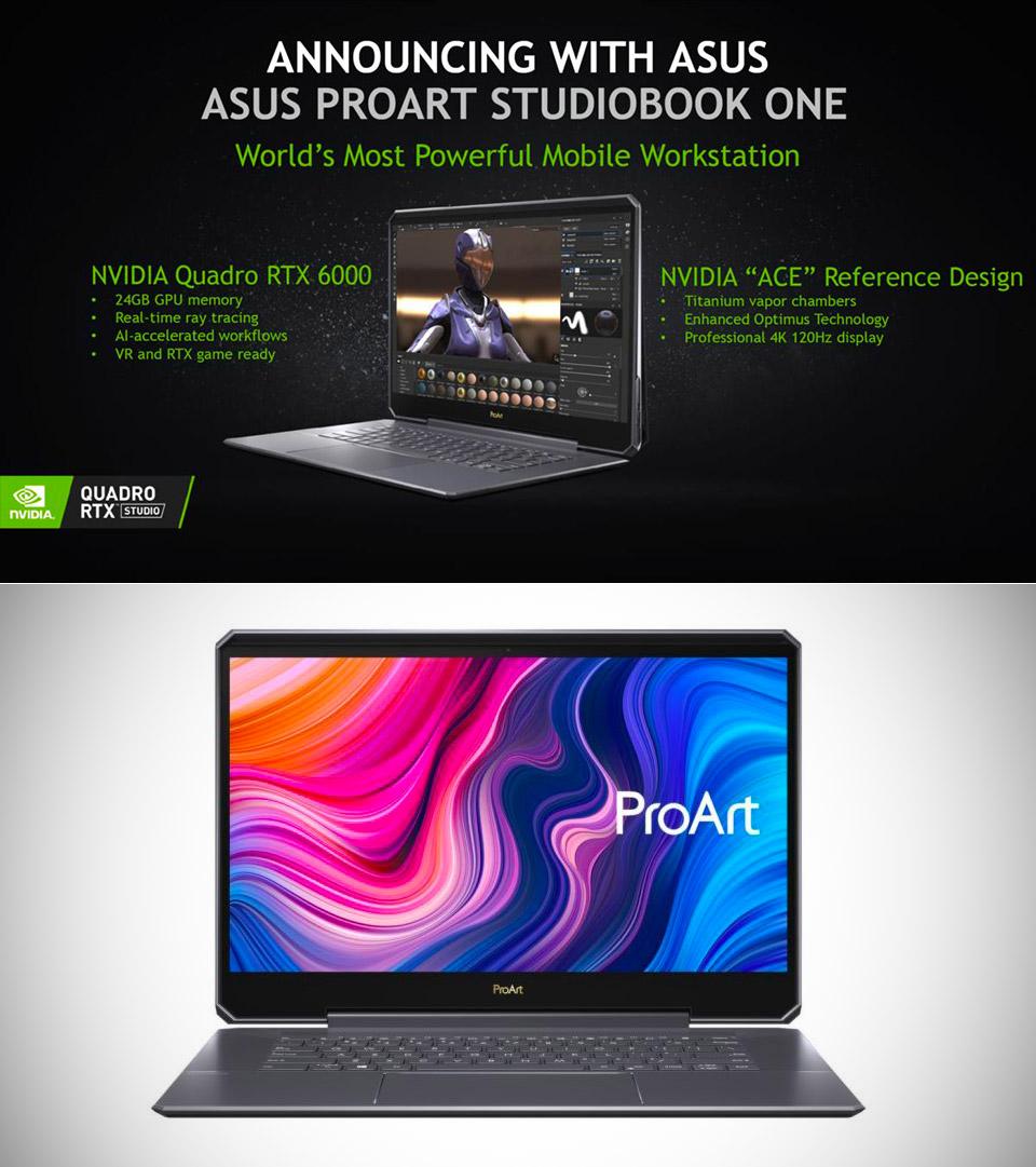 ASUS ProArt StudioBook One NVIDIA Quadro