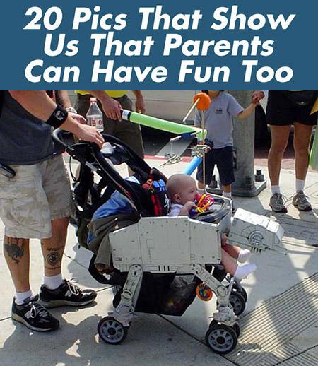 Geeks Parents montrent qu'ils peuvent toujours avoir du plaisir, ces 20 Pics prouvez-le