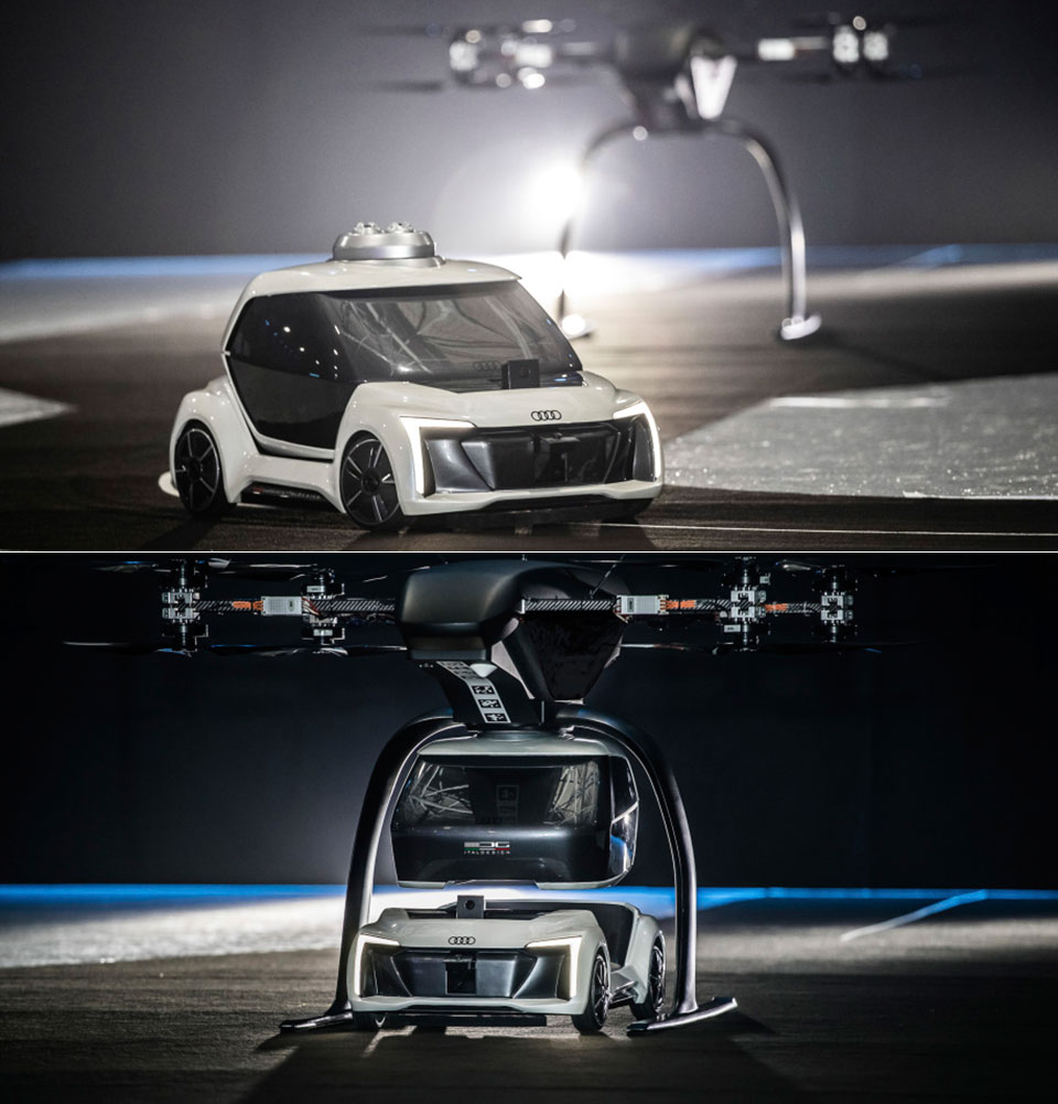 Audi Pop.Up.Next Car Drone Flying Taxi