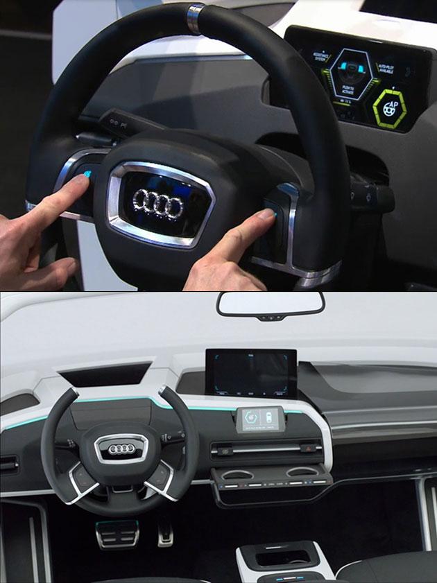 Audi Transforming Steering Wheel