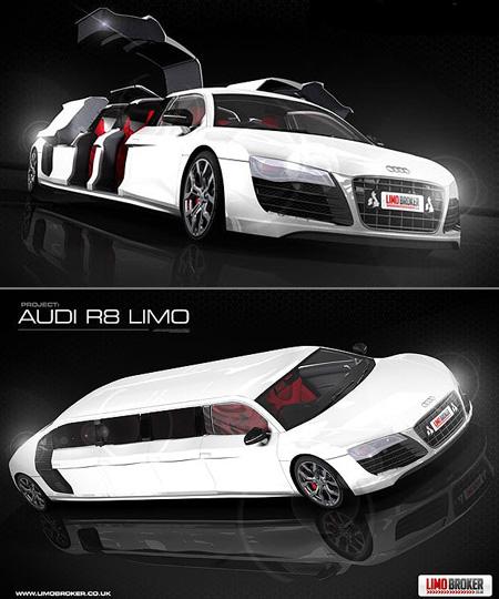 World's First Audi R8 Limousine - TechEBlog