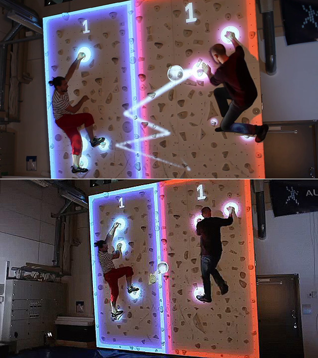 Augmented Reality Pong Climbing Wall