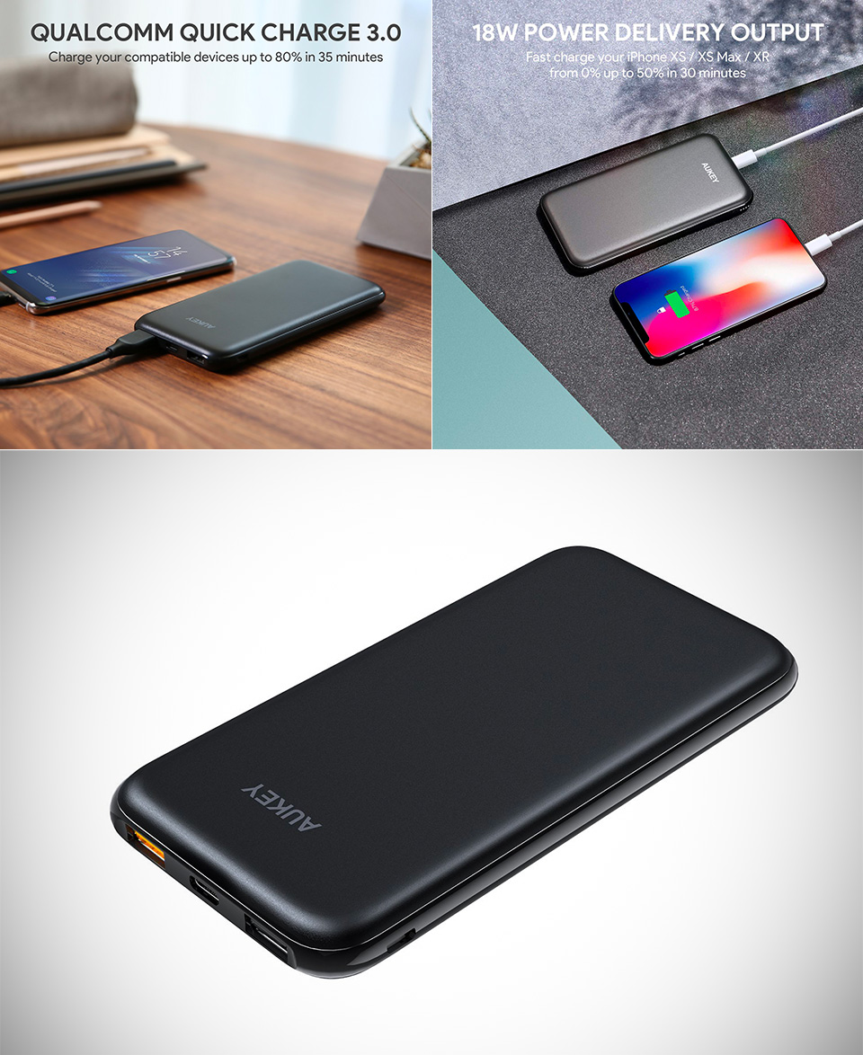 Aukey 10,000mAh Slimline PD Power Bank