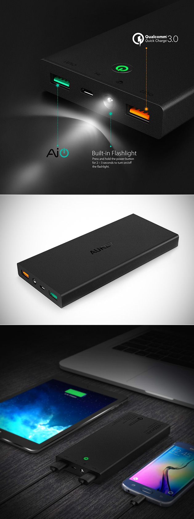 Aukey 16,000mAh Power Bank