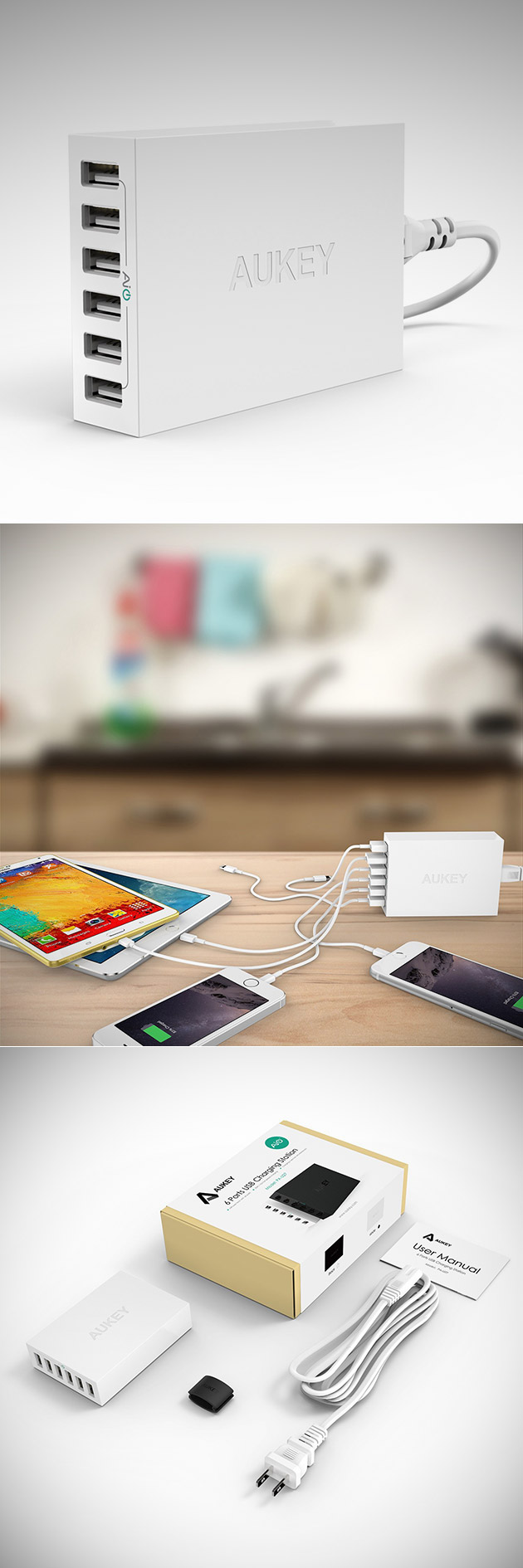 Aukey 6-Port USB Wall Charger