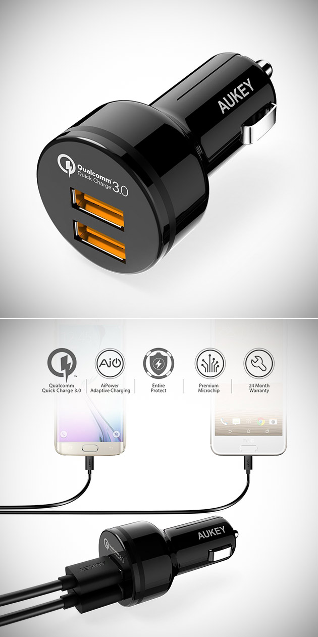 Aukey CC-T8 Car Charger
