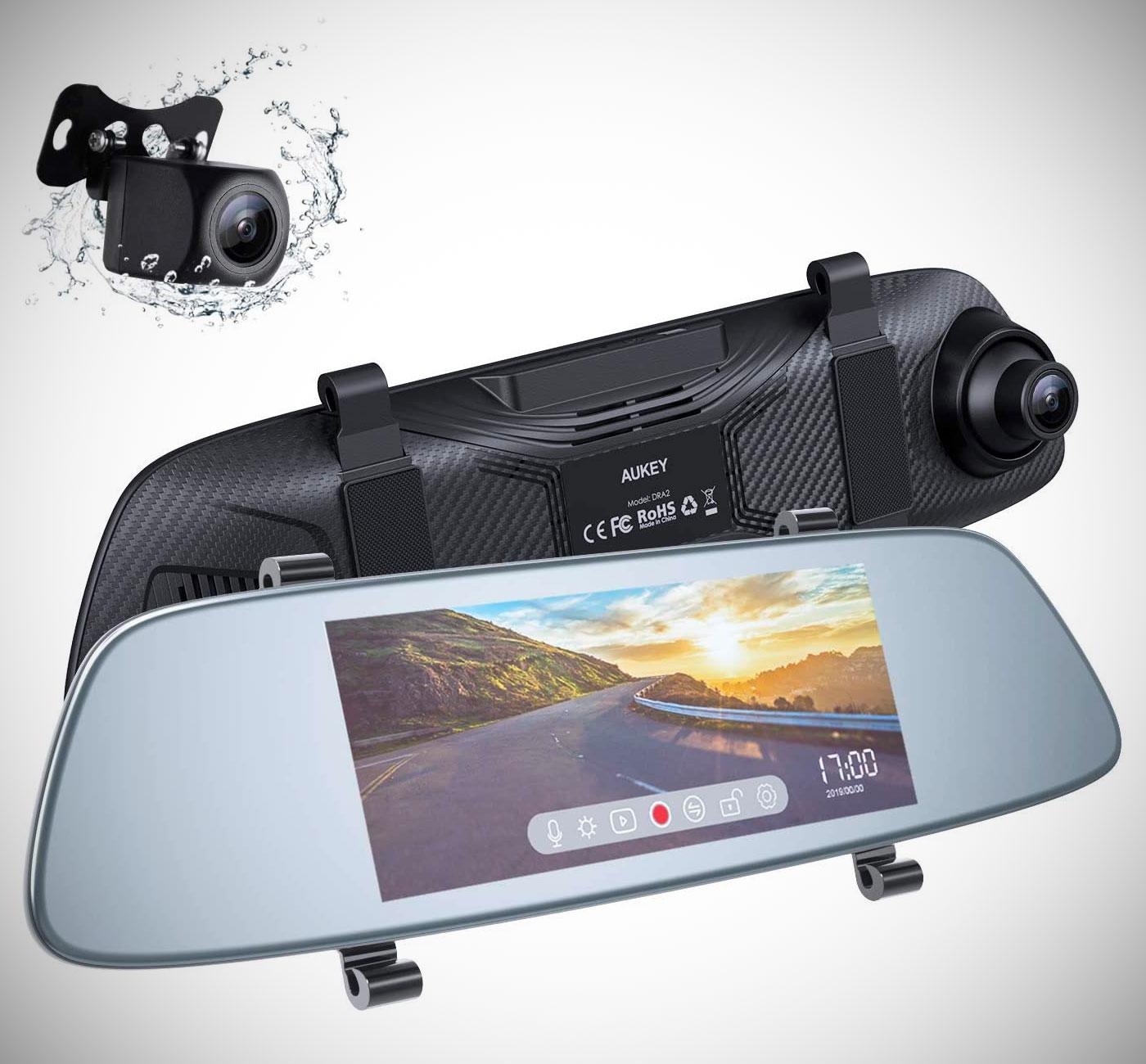 Aukey Mirror Dual Dash Cam DRA2