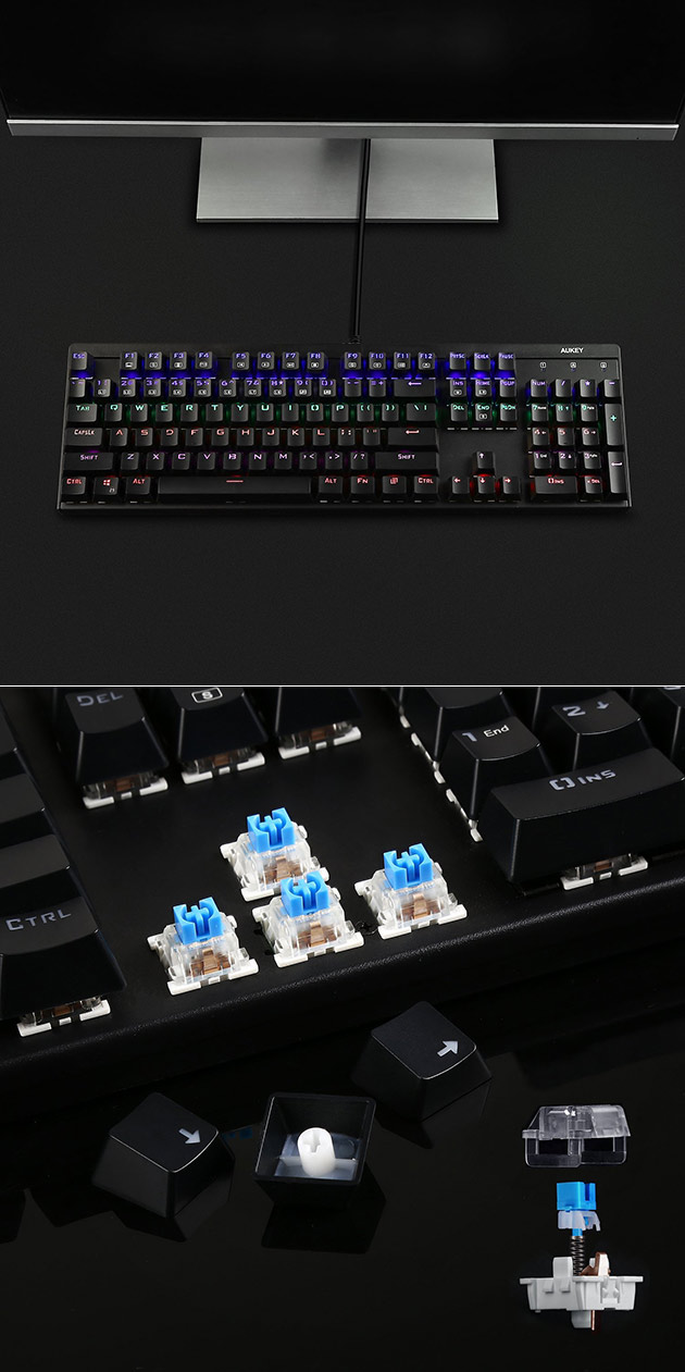 Aukey LED Mechanical Keyboard