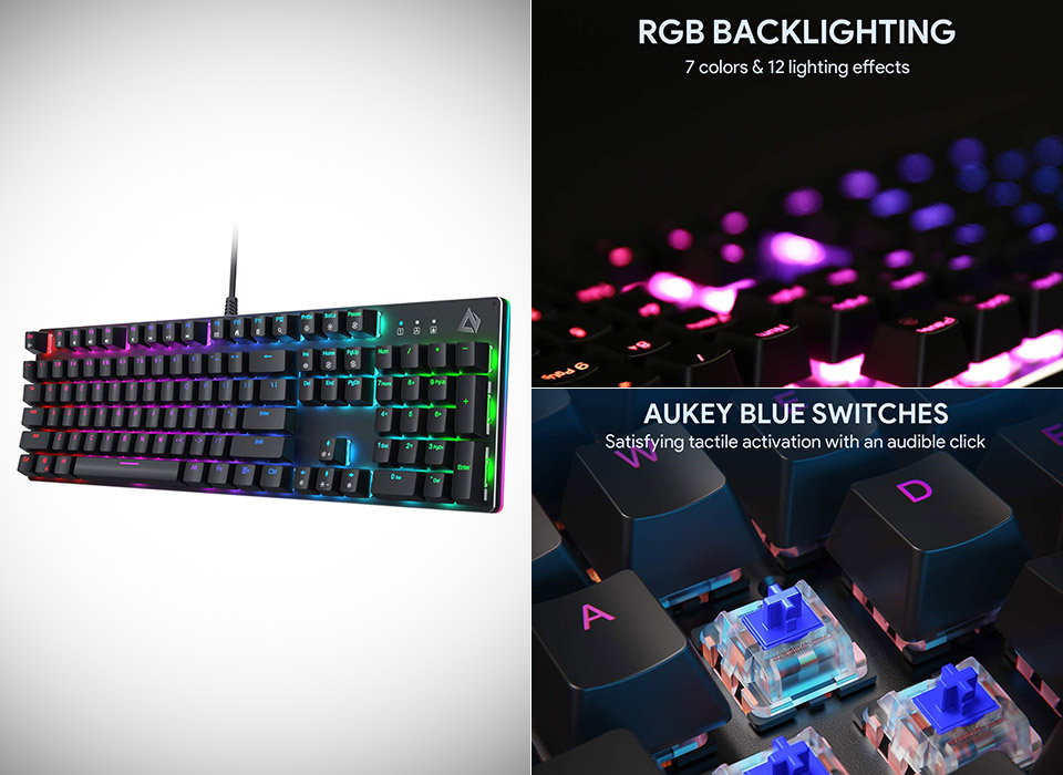 AUKEY Mechanical Gaming Keyboard RGB