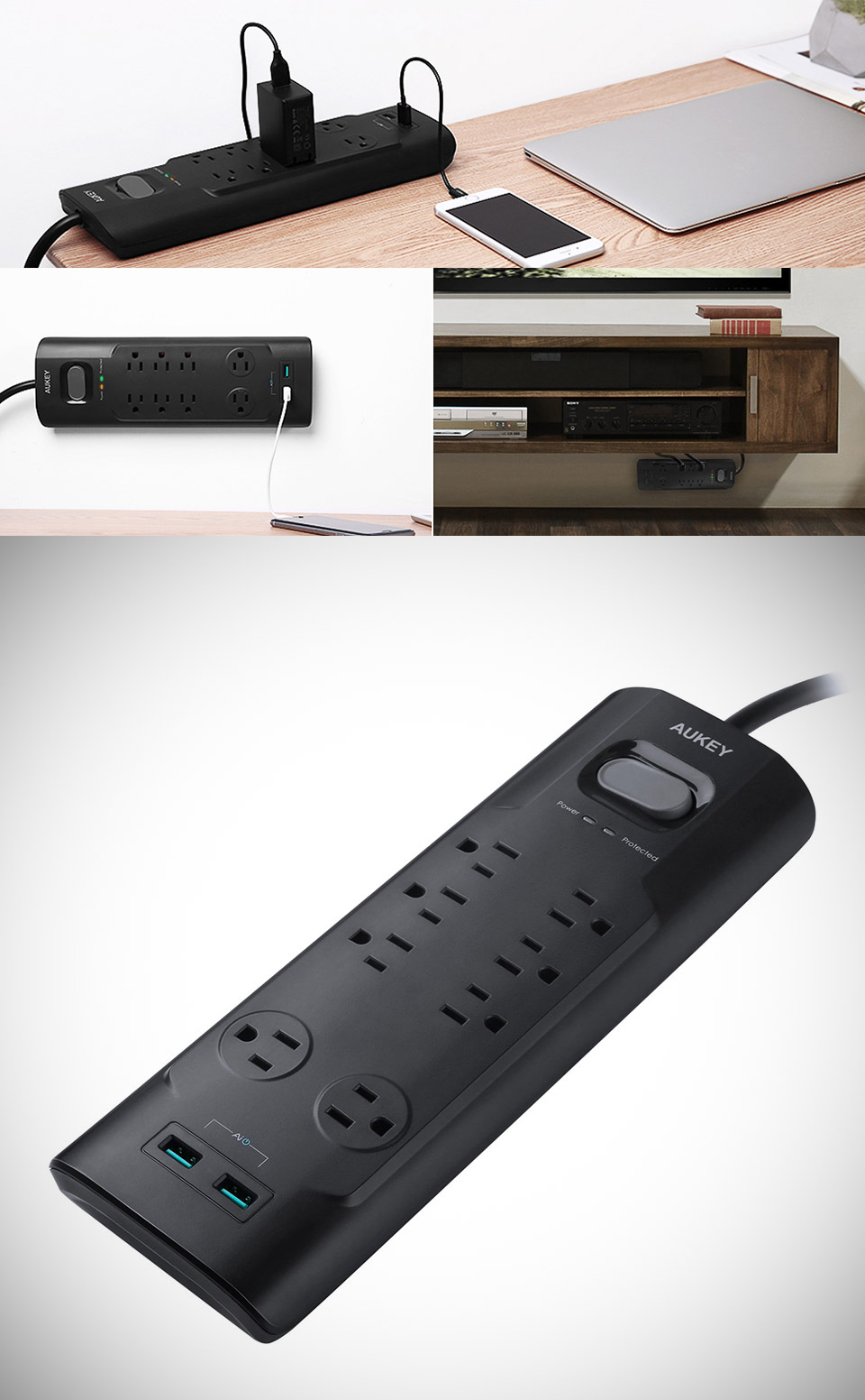 AUKEY Power Strip Surge Protector