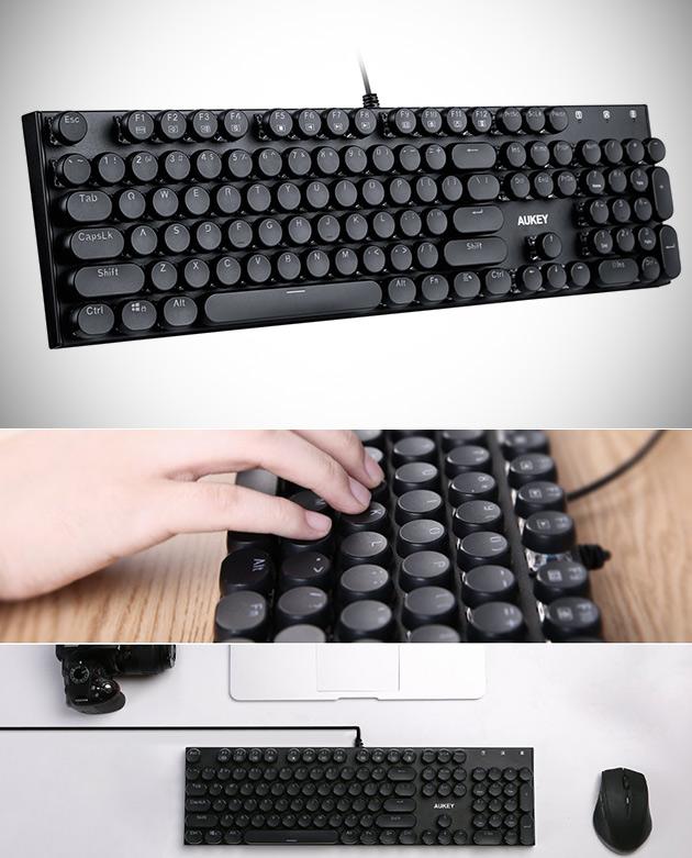 AUKEY Typewriter Keyboard