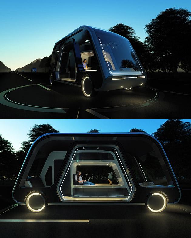Autonome Travel Suite Reisen Sie in Komfort Pur, Verschmilzt mit Transport und Hotel In Einem