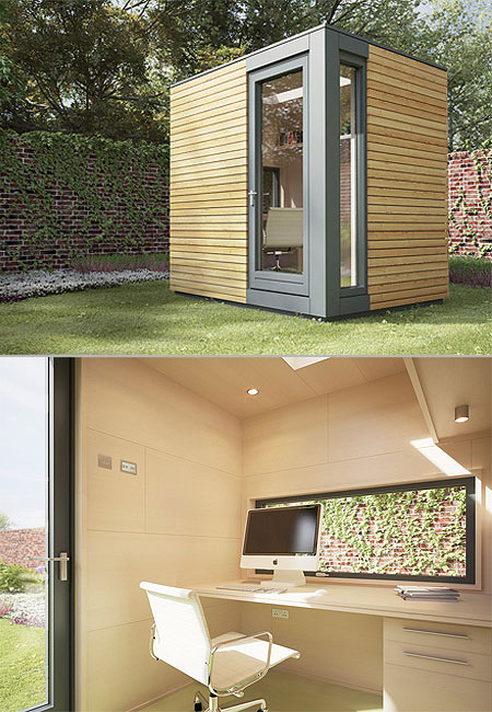 Working Outdoors In The Comfort Of Your Own Home Just Got A Lot More  Comfortable, Thanks To These Incredible Backyard Offices By British Company  Pod Space.