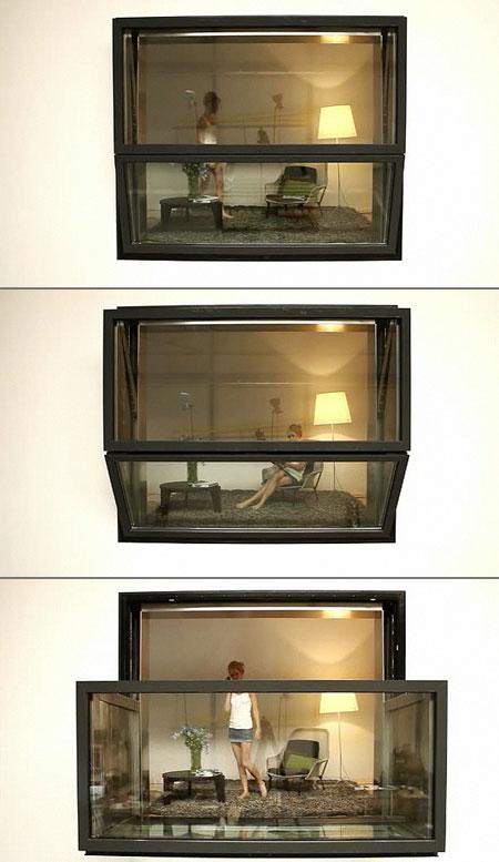 High Tech Bloomframe Window Transforms Into A Balcony