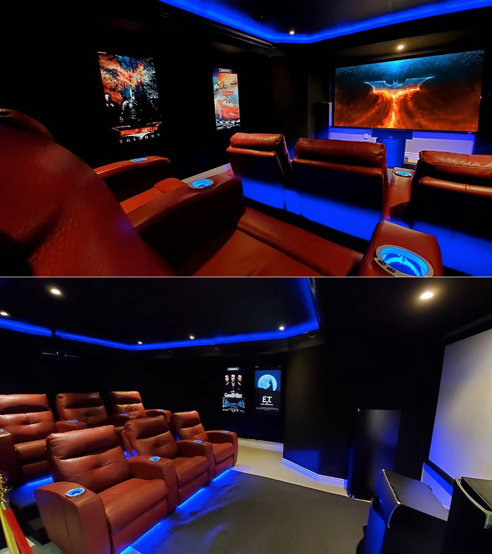 Basement Home Theater Game Room