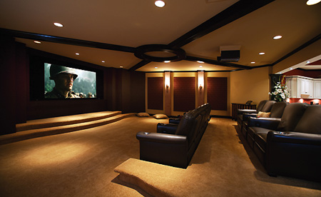 Pictures basement home theater goes widescreen techeblog for Home theater basement design ideas