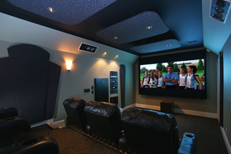 pictures guy builds dedicated home theater in basement on