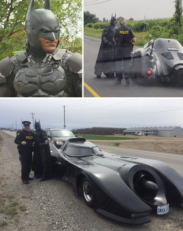 Batman Pulled Over