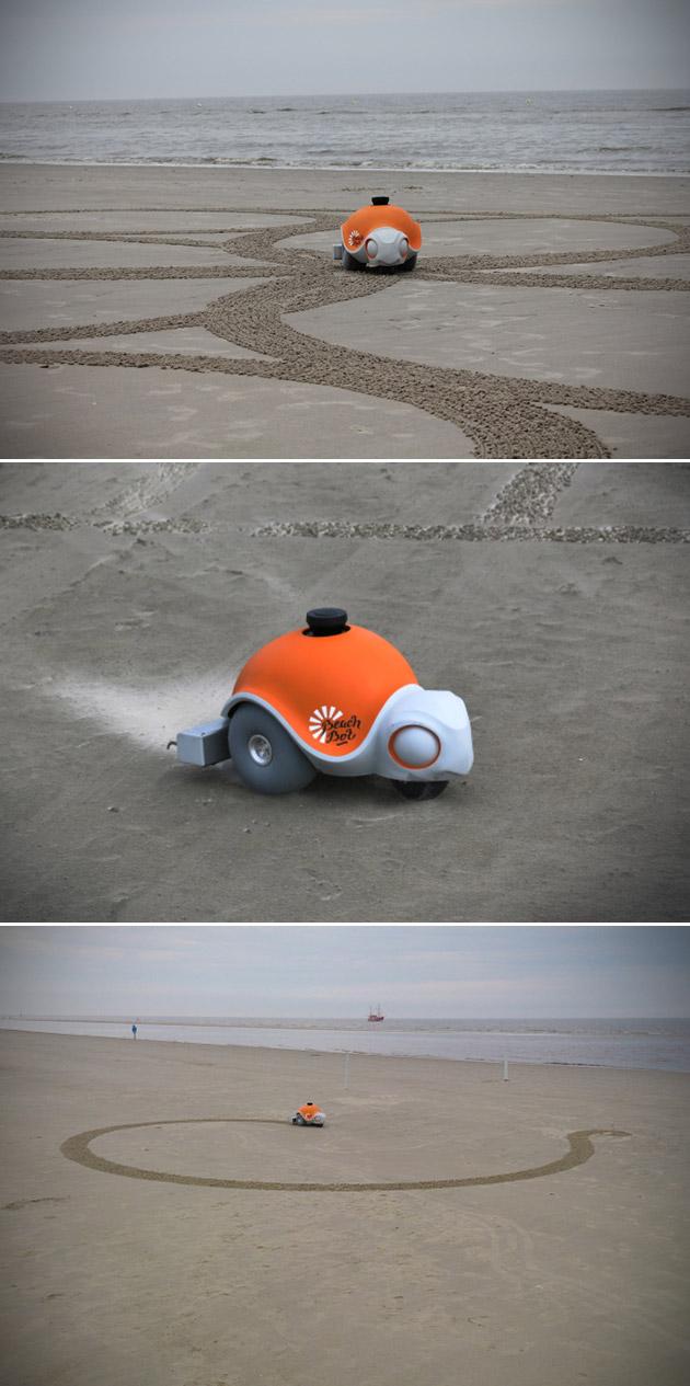 BeachBot Robot Sand