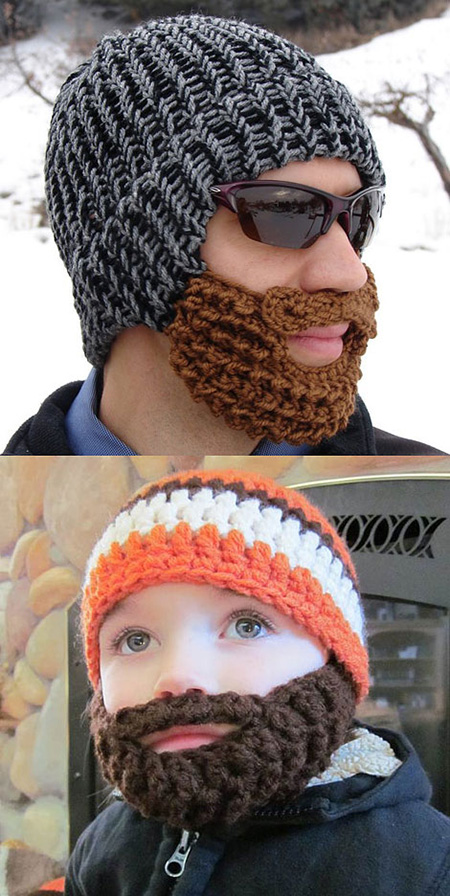 c4de60a6c82a0 Looking for that one geeky accessory that will make you more manly  Then  look no further than this epic beard hat. Simply put it on