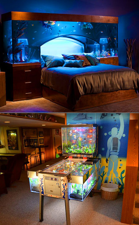 Awesome Bed With An Overhead Aquarium Might Be The Coolest