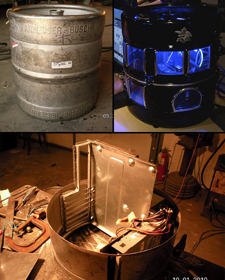 Geeky Computer Made from a Real Beer Keg - TechEBlog